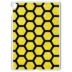 Hexagon2 Black Marble & Gold Glitter (r) Apple Ipad Pro 9 7   White Seamless Case by trendistuff