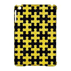 Puzzle1 Black Marble & Gold Glitter Apple Ipad Mini Hardshell Case (compatible With Smart Cover) by trendistuff