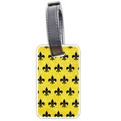 Royal1 Black Marble & Gold Glitter Luggage Tags (one Side)  by trendistuff