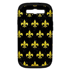 Royal1 Black Marble & Gold Glitter (r) Samsung Galaxy S Iii Hardshell Case (pc+silicone) by trendistuff