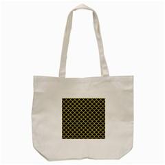 Scales1 Black Marble & Gold Glitter Tote Bag (cream) by trendistuff