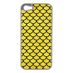 Scales1 Black Marble & Gold Glitter (r) Apple Iphone 5 Case (silver) by trendistuff