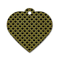 Scales2 Black Marble & Gold Glitterscales2 Black Marble & Gold Glitter Dog Tag Heart (one Side) by trendistuff