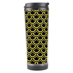 Scales2 Black Marble & Gold Glitterscales2 Black Marble & Gold Glitter Travel Tumbler by trendistuff