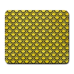 Scales2 Black Marble & Gold Glitter (r) Large Mousepads by trendistuff