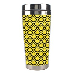 Scales2 Black Marble & Gold Glitter (r) Stainless Steel Travel Tumblers by trendistuff