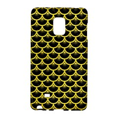 Scales3 Black Marble & Gold Glitter Galaxy Note Edge by trendistuff