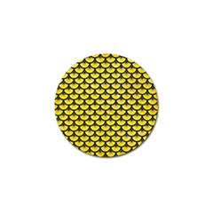 Scales3 Black Marble & Gold Glitter (r) Golf Ball Marker by trendistuff