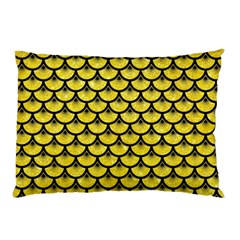 Scales3 Black Marble & Gold Glitter (r) Pillow Case (two Sides) by trendistuff