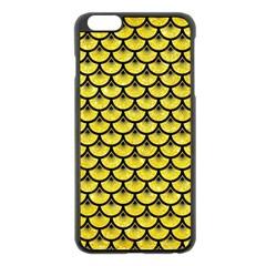 Scales3 Black Marble & Gold Glitter (r) Apple Iphone 6 Plus/6s Plus Black Enamel Case by trendistuff