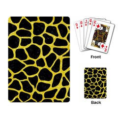 Skin1 Black Marble & Gold Glitter (r) Playing Card by trendistuff