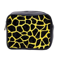 Skin1 Black Marble & Gold Glitter (r) Mini Toiletries Bag 2 Side by trendistuff