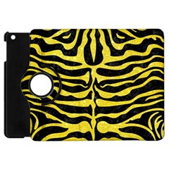 Skin2 Black Marble & Gold Glitter Apple Ipad Mini Flip 360 Case by trendistuff