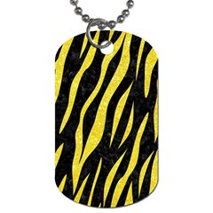 Skin3 Black Marble & Gold Glitter Dog Tag (two Sides) by trendistuff
