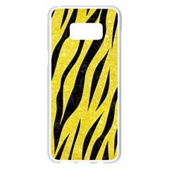Skin3 Black Marble & Gold Glitter (r)skin3 Black Marble & Gold Glitter (r) Samsung Galaxy S8 Plus White Seamless Case by trendistuff