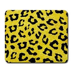 Skin5 Black Marble & Gold Glitter Large Mousepads by trendistuff