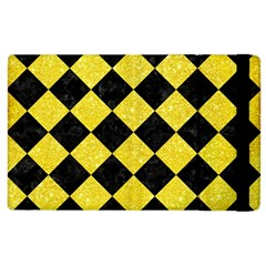 Square2 Black Marble & Gold Glitter Apple Ipad 3/4 Flip Case by trendistuff
