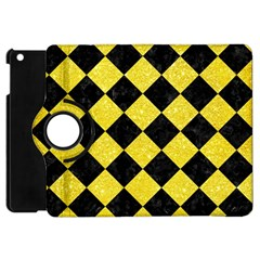 Square2 Black Marble & Gold Glitter Apple Ipad Mini Flip 360 Case by trendistuff