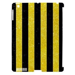Stripes1 Black Marble & Gold Glitter Apple Ipad 3/4 Hardshell Case (compatible With Smart Cover) by trendistuff
