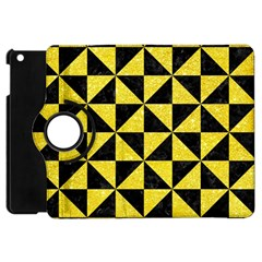 Triangle1 Black Marble & Gold Glitter Apple Ipad Mini Flip 360 Case by trendistuff