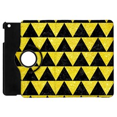 Triangle2 Black Marble & Gold Glitter Apple Ipad Mini Flip 360 Case by trendistuff