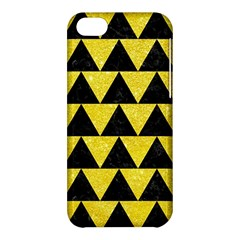 Triangle2 Black Marble & Gold Glitter Apple Iphone 5c Hardshell Case by trendistuff