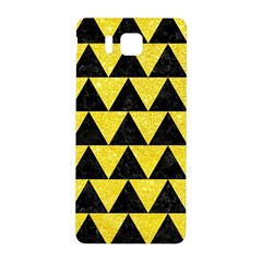 Triangle2 Black Marble & Gold Glitter Samsung Galaxy Alpha Hardshell Back Case by trendistuff
