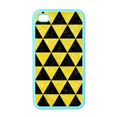 Triangle3 Black Marble & Gold Glitter Apple Iphone 4 Case (color) by trendistuff