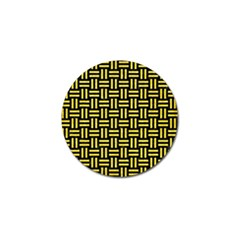 Woven1 Black Marble & Gold Glitter Golf Ball Marker (10 Pack) by trendistuff