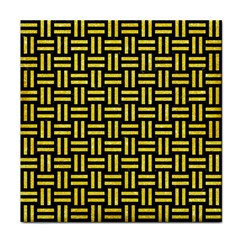 Woven1 Black Marble & Gold Glitter Face Towel