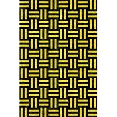 Woven1 Black Marble & Gold Glitter 5 5  X 8 5  Notebooks by trendistuff