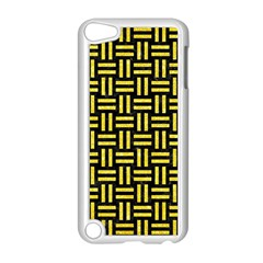 Woven1 Black Marble & Gold Glitter Apple Ipod Touch 5 Case (white) by trendistuff