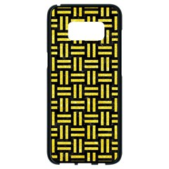 Woven1 Black Marble & Gold Glitter Samsung Galaxy S8 Black Seamless Case
