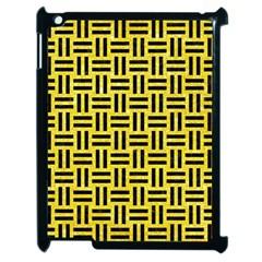Woven1 Black Marble & Gold Glitter (r) Apple Ipad 2 Case (black) by trendistuff