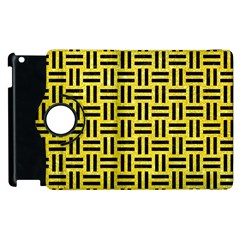 Woven1 Black Marble & Gold Glitter (r) Apple Ipad 3/4 Flip 360 Case by trendistuff