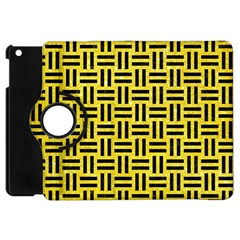 Woven1 Black Marble & Gold Glitter (r) Apple Ipad Mini Flip 360 Case by trendistuff