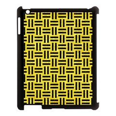 Woven1 Black Marble & Gold Glitter (r) Apple Ipad 3/4 Case (black) by trendistuff