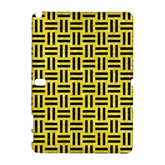 Woven1 Black Marble & Gold Glitter (r) Galaxy Note 1 by trendistuff