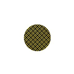 Woven2 Black Marble & Gold Glitter 1  Mini Magnets by trendistuff