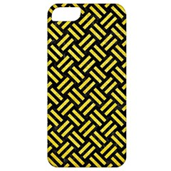 Woven2 Black Marble & Gold Glitter Apple Iphone 5 Classic Hardshell Case by trendistuff