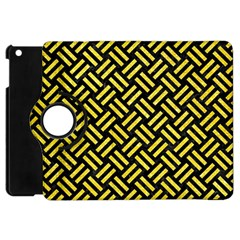 Woven2 Black Marble & Gold Glitter Apple Ipad Mini Flip 360 Case by trendistuff