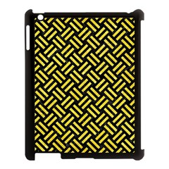 Woven2 Black Marble & Gold Glitter Apple Ipad 3/4 Case (black) by trendistuff