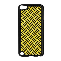 Woven2 Black Marble & Gold Glitter (r) Apple Ipod Touch 5 Case (black) by trendistuff