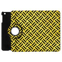 Woven2 Black Marble & Gold Glitter (r) Apple Ipad Mini Flip 360 Case by trendistuff