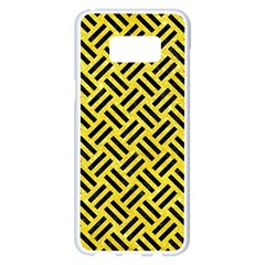 Woven2 Black Marble & Gold Glitter (r) Samsung Galaxy S8 Plus White Seamless Case by trendistuff
