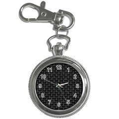 Brick1 Black Marble & Gray Colored Pencil Key Chain Watches by trendistuff
