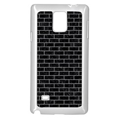 Brick1 Black Marble & Gray Colored Pencil Samsung Galaxy Note 4 Case (white) by trendistuff
