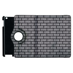 Brick1 Black Marble & Gray Colored Pencil (r) Apple Ipad 2 Flip 360 Case by trendistuff
