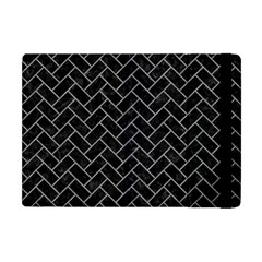 Brick2 Black Marble & Gray Colored Pencilbrick2 Black Marble & Gray Colored Pencil Apple Ipad Mini Flip Case