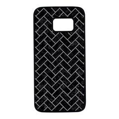 Brick2 Black Marble & Gray Colored Pencilbrick2 Black Marble & Gray Colored Pencil Samsung Galaxy S7 Black Seamless Case by trendistuff